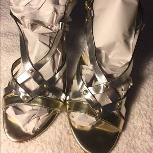 Silver Sandals By Cole Haan